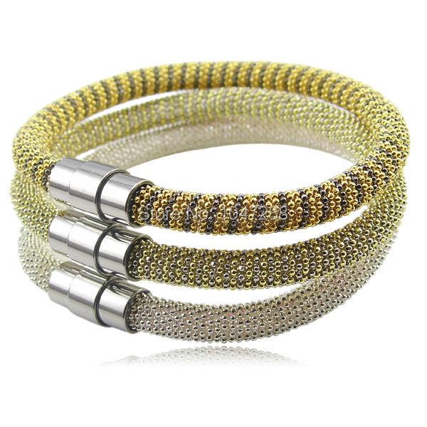 2014 New design 3 Color Fashion Womens gold/Black/Silver Italy Bracelet,  bead chain bracelet best gift Women fashion jewelry <br><br>Aliexpress