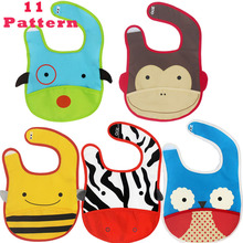 Waterproof  Baby Boys Girls Bibs Kids Saliva Towel Lunch Baby Bibs Infants Cartoon Pattern Burp Cloths 11 Design(China (Mainland))