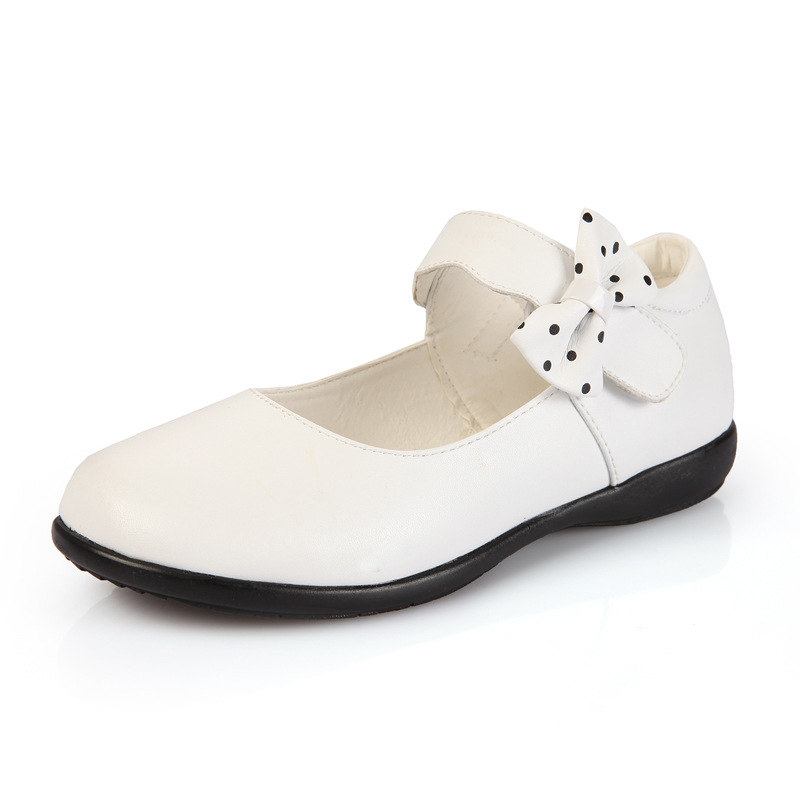 2016 Black Girls Patent Leather Dress Shoes White Mary Jane Shoes Bow Formal Girls Princess School Shoes Children Wedding Shoes(China (Mainland))