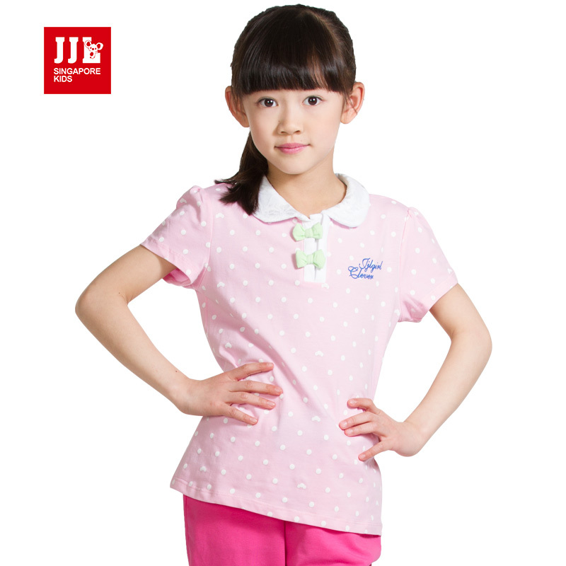 girls t shirt summer girls polo shirt short sleeve candy color girls clothing children brand tees(China (Mainland))