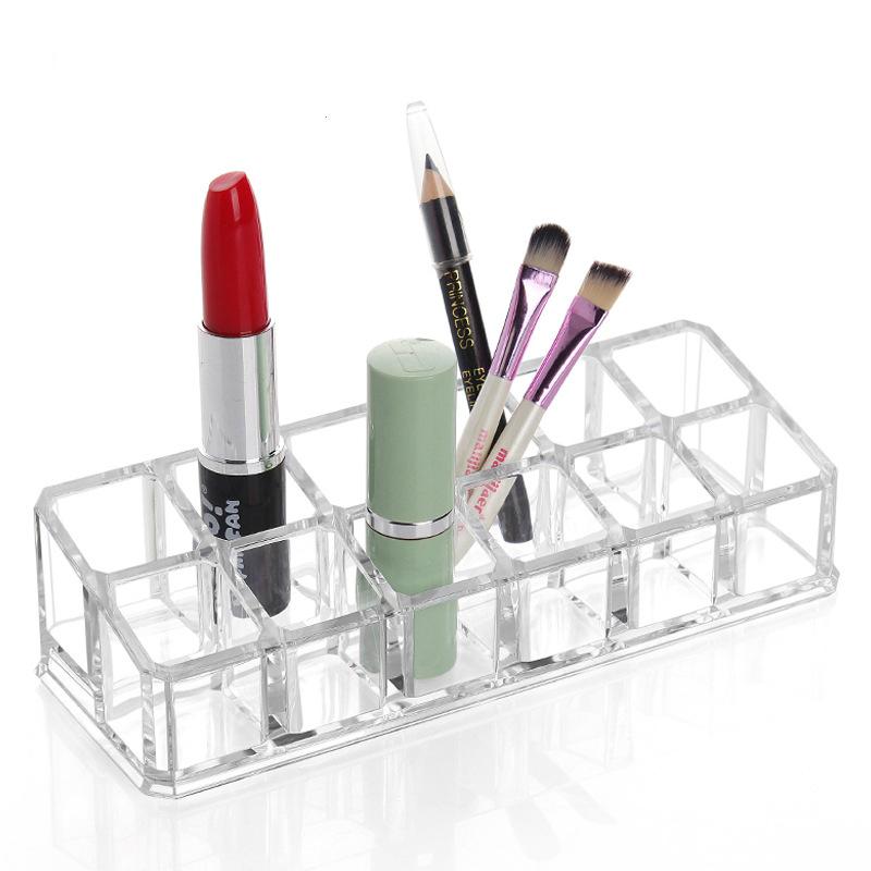 2016 Organizer Organizador Storage Box Cosmetic Box 1030 Transparent Display Rack Storage Shelf Lipstick Cosmetics 12 Lattice(China (Mainland))