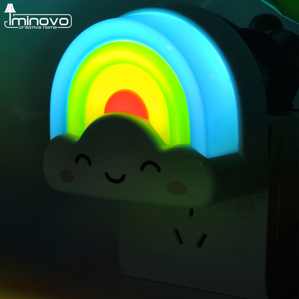 Iminovo Mini Rainbow Night Lights Voice Light Sensor