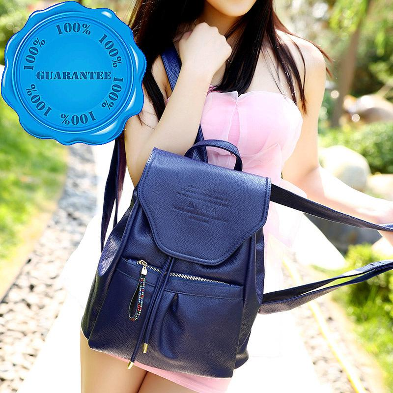 Top-class PU Backpack Women Recreational Preppy Style Bag Double shoulder strap-type soft durable Wear-resistant bags