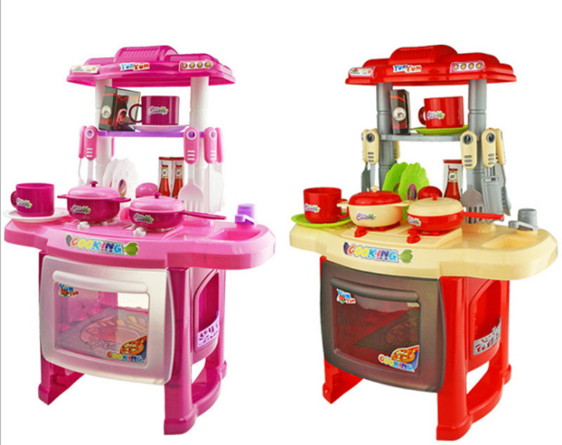 2016 New Kid's Kitchen Cooking Toys Play Set Pretend Play Simulation Toy Kitchen Child Cooking Game Children Gift(China (Mainland))
