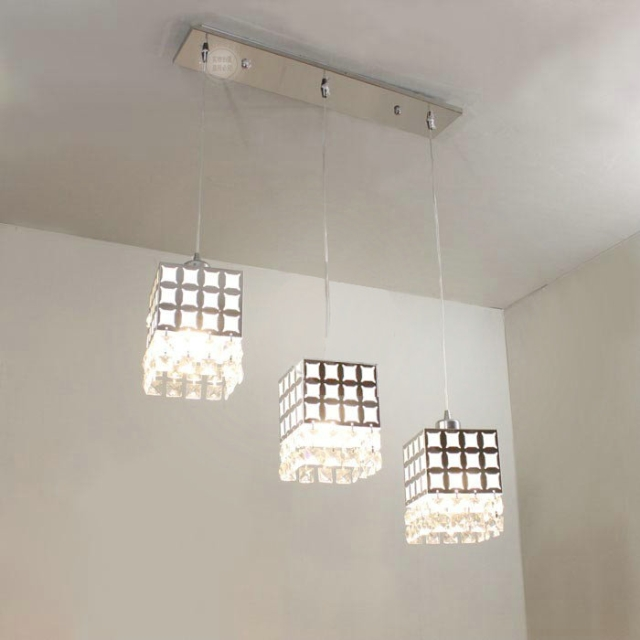 Modern Crystal Pendant Light Hanging Lamp For Dining Room
