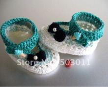 30pairs,Handmade Baby's Crochet Shoes,Crochet knitting baby shoes,free shipping to all country(Hong Kong)