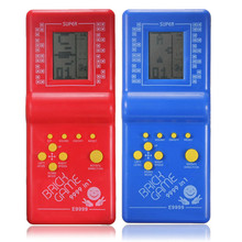 Hot !! Top Selling Newest Childhood Classic Tetris Hand Held LCD Electronic Game Toys Fun Brick Game Riddle Educational Toys