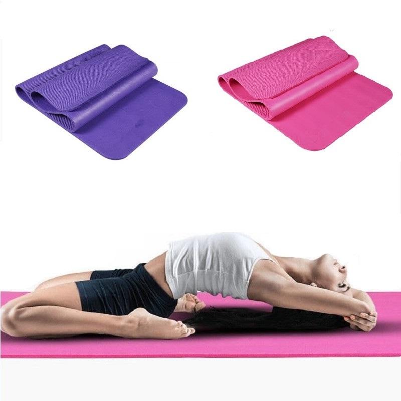 Yoga Mat For Beginners Anti Slip sport mat non slip fitness mat with yoga rope gym mat 183*61 *10mm(China (Mainland))