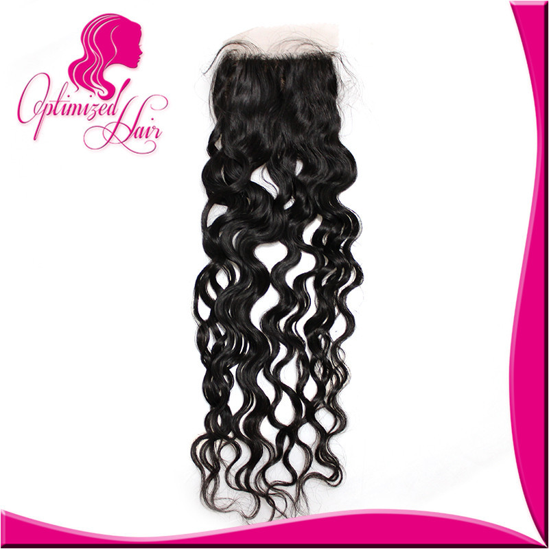 Hot Selling Brazilian Virgin Hair Silk Base Closure Natural Wave Closure 1pcs Soft Human Wave Hair 4*4 Top Closure <br><br>Aliexpress