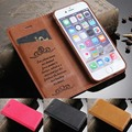 For iPhone 7 Plus Luxury Case for iPhone 6 6S Plus Flip Leather Cover Adsorption for