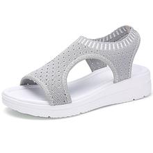 MLANXEUE/Модные женские босоножки, коллекция 2018 года, дышащие удобные женские прогулочные туфли, Летние черные босоножки на платформе(China)