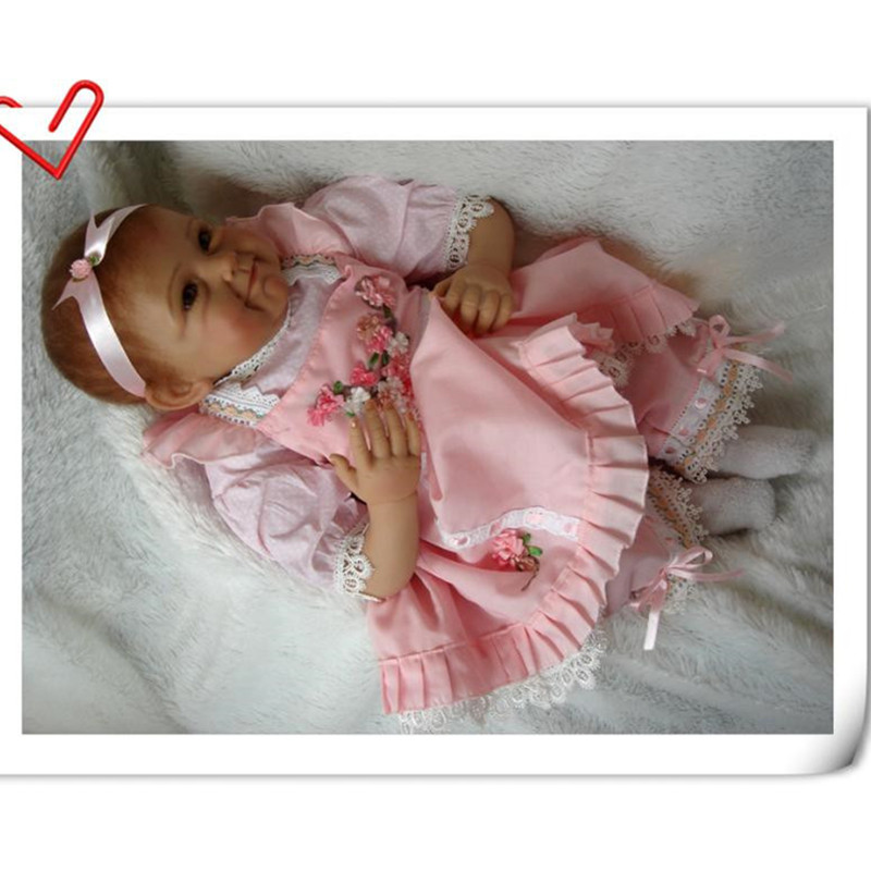 Soft Silicone Reborn Baby Dolls 50 cm/20 Inch, Vivid Baby Reborn Doll Toys for Children/Friend's Birthday Gift(China (Mainland))
