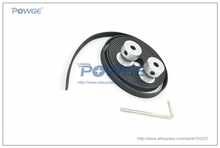 2pcs 20 Teeth GT2 Pulley Bore 5mm and 2Meters GT2 timing Belt wide 6mm for 3D printer (4xM4 setscrews 1xAllen Key) Freeshipping (China (Mainland))