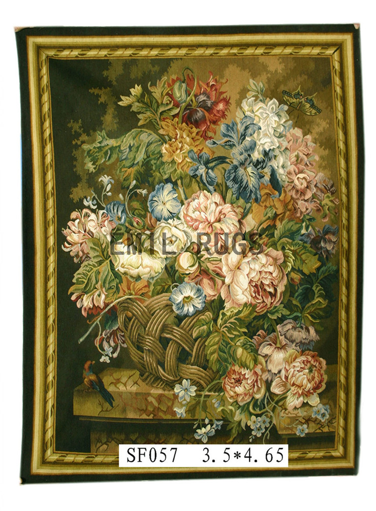 2014 Real Promotion Wall Hanging Tapestry Pure Wool Handmade French Gobelins Weave Tapestry 107cmx142cm 3.5'x 4.65'gc16tap44(China (Mainland))