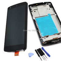 Black for LG Google Nexus 5 D820 D821 LCD touch screen digitizer assembly with frame Free Tools