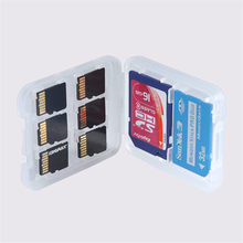Best Price 8 in 1 High Quality Plastic Micro for SD SDHC TF MS Memory Card Storage Case Box Protector Holder(China (Mainland))