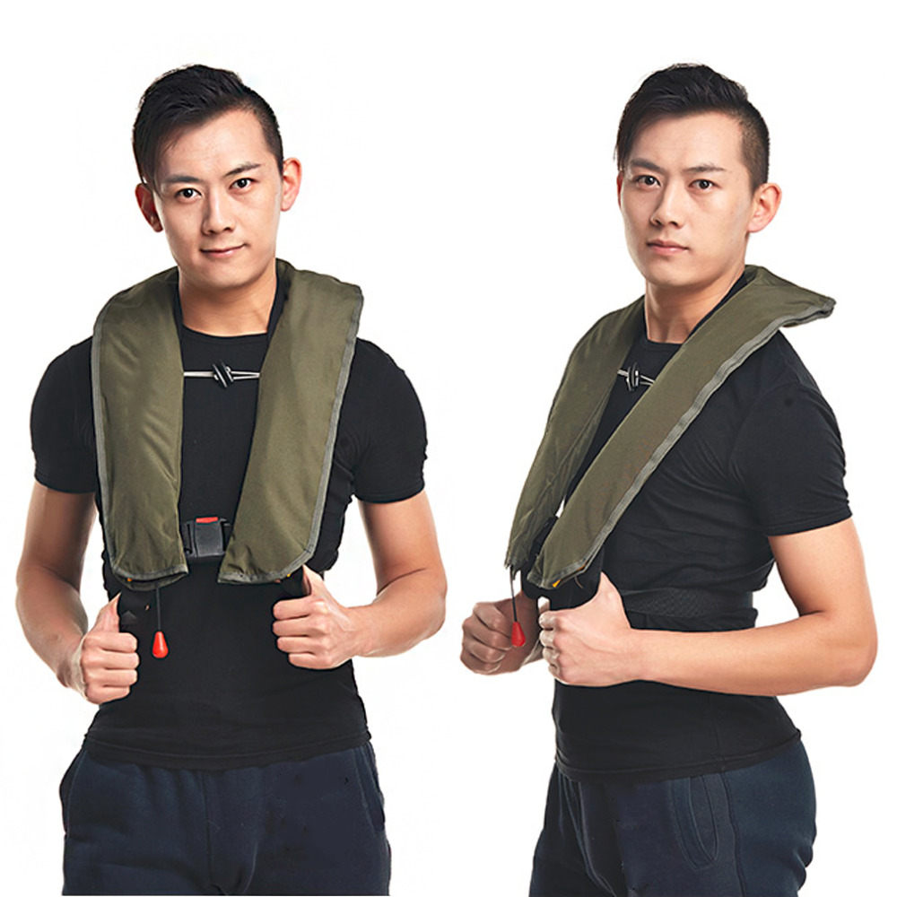 New Manual Inflatable Automatic Inflatable Life Vest Survival Whistle Water Sports Life Jacket For Water-skiing Upstream Surfing(China (Mainland))