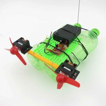 DIY air propeller ship/technology making homemade remote control boat ship/hand/ship/plastic manufacturing suite Unassembled Kit(China (Mainland))