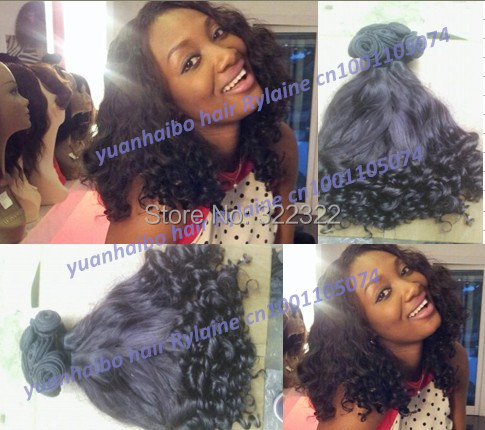 Top 6a grade 1b# tip curly 100% russian aunty funmi hair for black women 3pcs/lot for full head free shipping<br><br>Aliexpress
