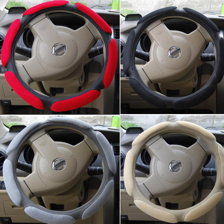 Hot Sale! Steering Wheel Cover M(38cm)Low Price Luxury Car Hubs car cuero cover genuine leather accessories, - SUN-SPEED AUTO TRADE CO.,LTD store
