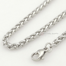 Stainless Steel Chain Necklace for men or women Jewelry Accessories, Wholesale Free Shipping