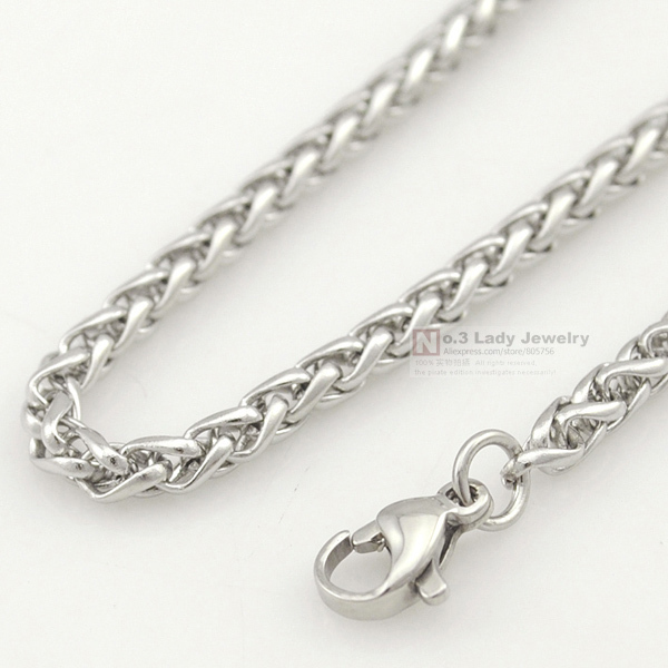 Stainless Steel Chain Necklace for men or women Jewelry Accessories, Wholesale Free Shipping(China (Mainland))