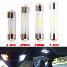 Buy 2pcs C5W COB Led Car Interior Bulbs 31mm 36mm 39mm 41mm Glass Lens Festoon Dome Reading Light Source 12V White Double Tip Lamp for $1.27 in AliExpress store