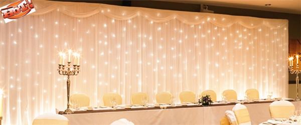 2015 3x6m white silk wedding backdrop wedding curtain backdrop wedding