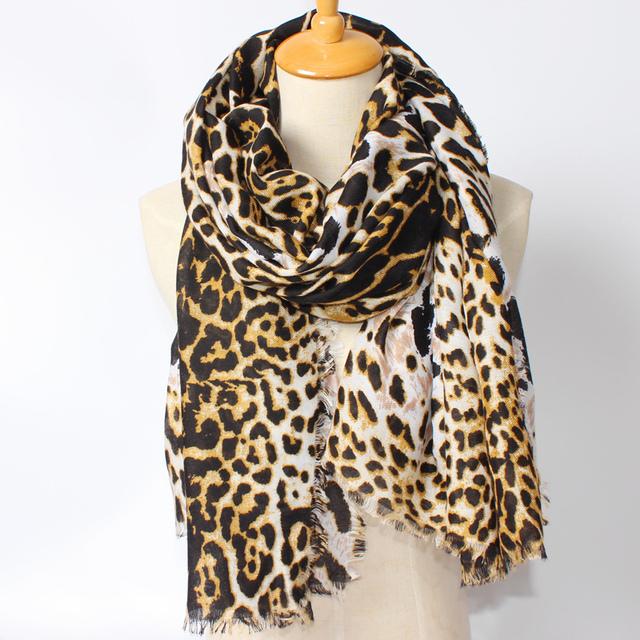 2016 Новое Прибытие Зимняя Мода Женщины Марка Дизайн Евро и Америка Улица Сексуальная Leopard Шарф Большой Размер Шали