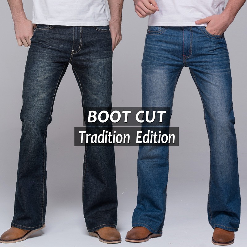 mens bootcut stretch jeans - Jean Yu Beauty