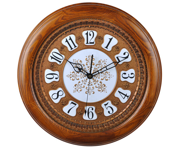 House Furniture Attractive Round Shape Wooden Antique European-Style Quality Wall Clock JHF15-005A(China (Mainland))