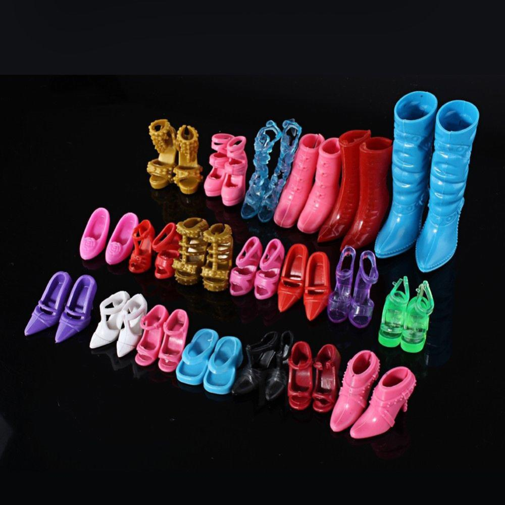 Mix 24pcs/12Pairs Shoes Boots for Doll Girls Play House Color Random Free Shipping(China (Mainland))