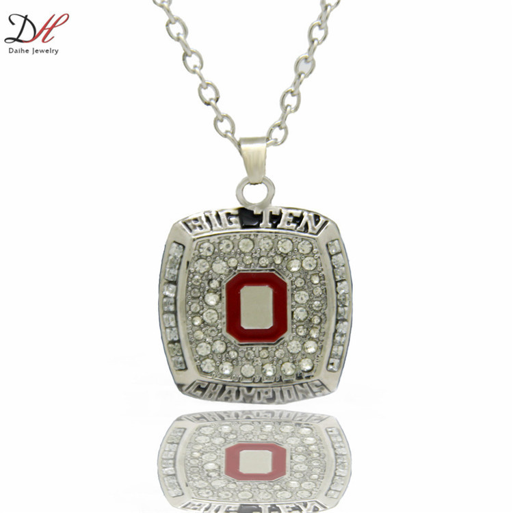 Daihe NC4672 New Sport Jewelry 2010 Ohio State Championship Pendants Necklace For Men and Women Necklaces,Best Gifts For Couple(China (Mainland))