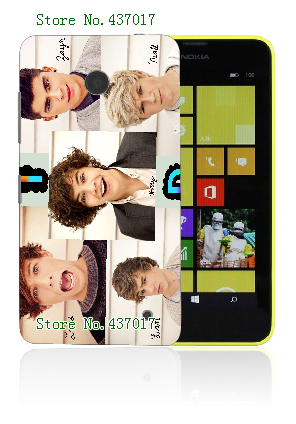 One Direction Band Fashion Style 10designs Hybrid Retail White Hard Mobile Phone bags&cases For Nokia Lumia 630 Free Shipping(China (Mainland))