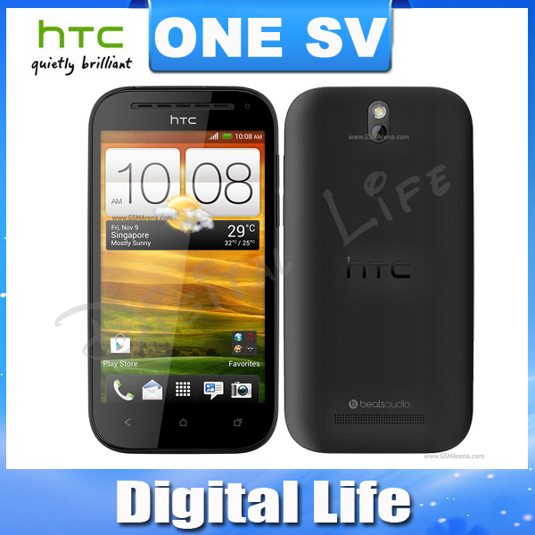 ONE SV Original HTC One SV Dual Core Android, GPS, WIFI, 4.3''TouchScreen, 5MP camera Unlocked Cell Phone(China (Mainland))