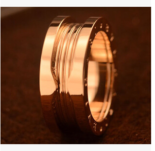 Vintage edelstahl Gear Brand Couples anello bagues stainless steel fingers rings for womens mens Rose gold Fashion Jewelry gift(China (Mainland))