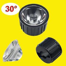 Buy 300pcs/lot 30 Degree Clear LED Lens + 22mm Black holder 1W 3W 5W LED Light Lamp for $52.90 in AliExpress store