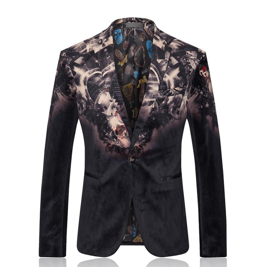 Men Slim Fit Dress Blazer Jacket Brand Design Print Casual Business Blazer Suit Male Cotton Business Wedding Suit Blazer SL-E183Îäåæäà è àêñåññóàðû<br><br>