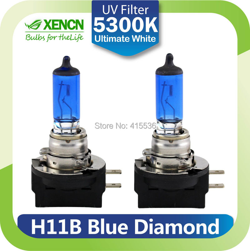 XENCN H11B 12V 55W 5300K Blue Diamond Light Car Bulbs Replace Upgrade Excellent Quality Fog Halogen Lamp for Ford Hyundai Kia(China (Mainland))