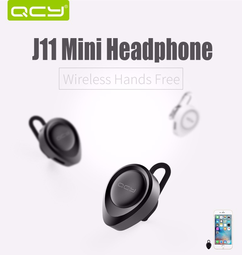 QCY J11 Earphone Portable Mini Stealth Bluetooth Headset Wireless Handsfree Ecouteur Sport Stereo Fone De Ouvido for Car Driving