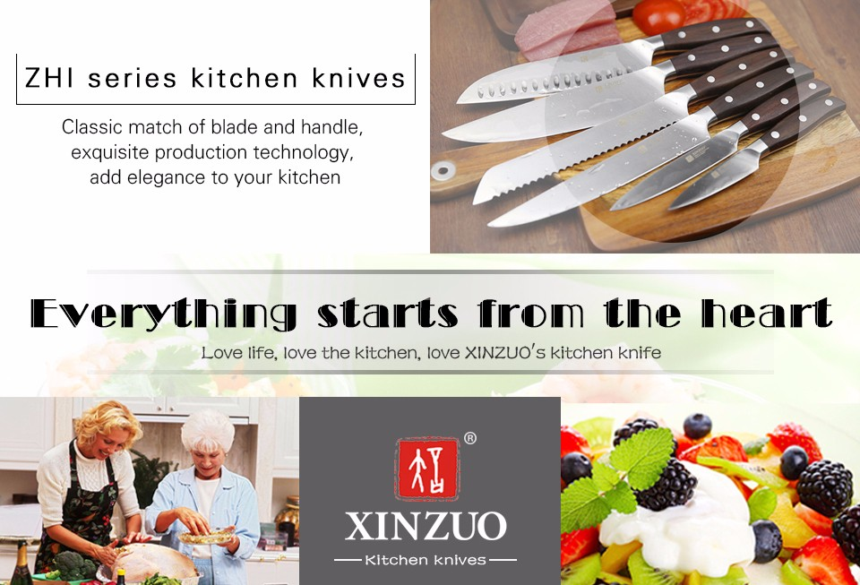 Buy XINZUO 8 inch sashimi knife German steel kitchen knife cleaver knife sushi knife rosewood handle kitchen tool free shiping cheap