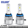Oslamp 72W H11 Car Led Headlight Bulb CREE CSP Chips 6500K 8000lm h11 Fog Light Auto