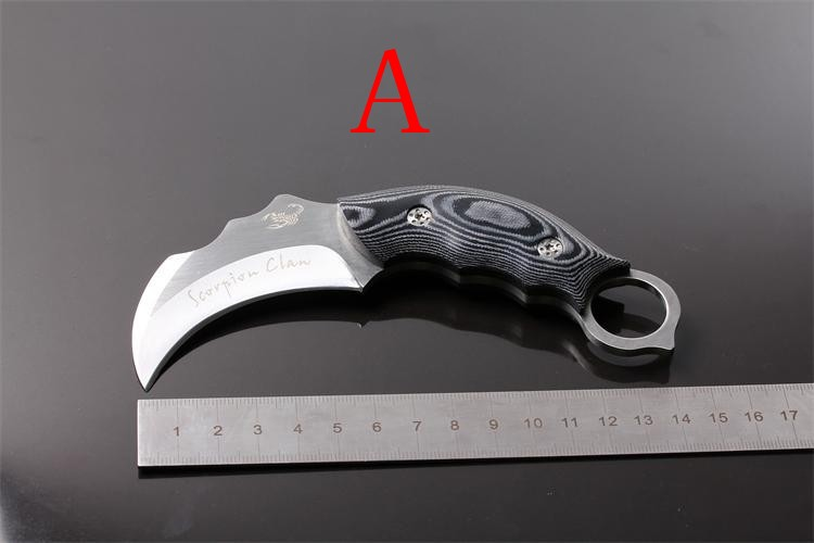 Buy Karambit Hunting Knives Micatta Handle Stainless Steel Camping Survival Knife Tools Faca Navajas cheap