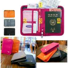 1PCS 4 Color Men Women New Travel Wallet Passport Holder Document Credit Card Organizer Bag Free Shipping