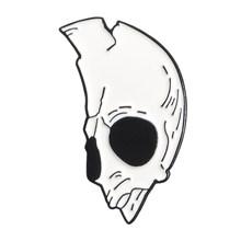 Lo Scheletro Coppie Risvolto Spille Metà delle Donne Mezzo Cranio Punk Romantico Goth Halloween Smalto Distintivi e Simboli Spille Spilli Per Zaini(China)