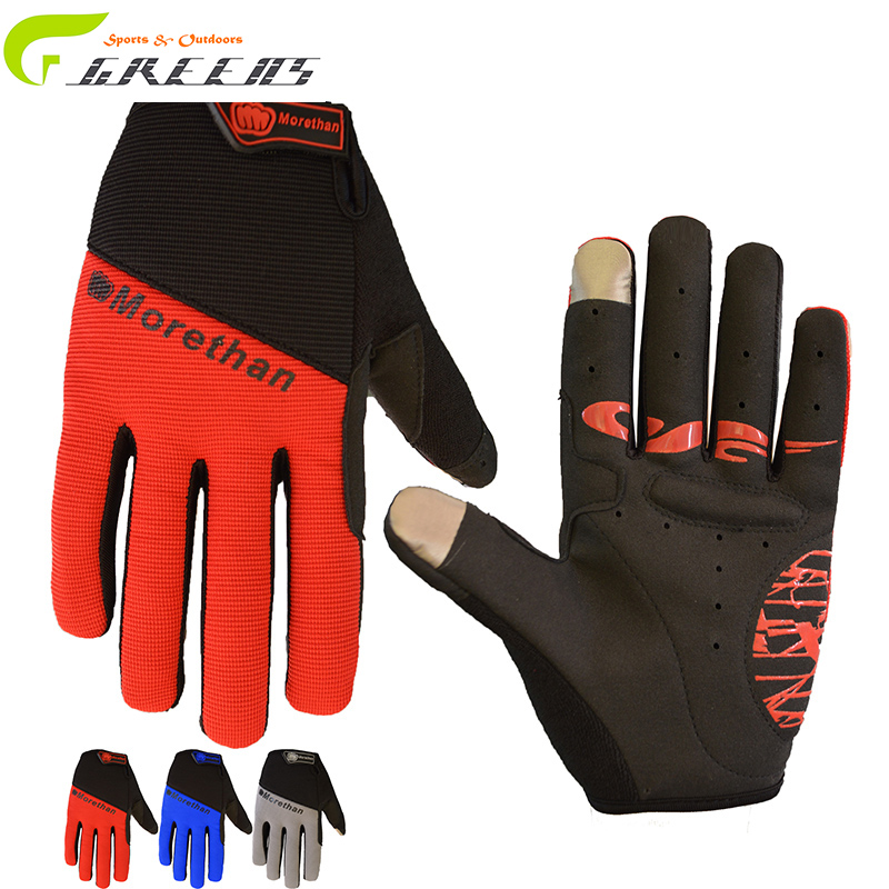Long Finger Cycling Glove Gel Touch Screen Mountain Bike Bicycle Gloves for Man Woman MTB BMX DH Off Road Motocross Gloves(China (Mainland))