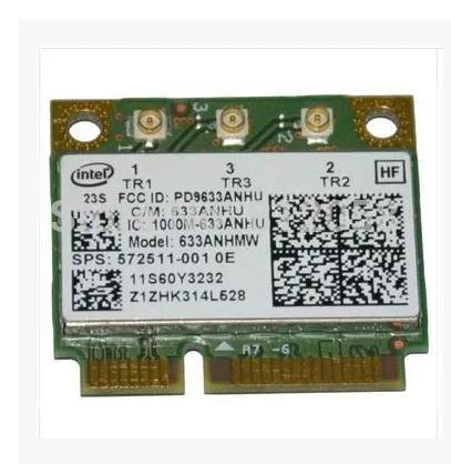 Network Card for Intel Ultimate-N 6300 633ANHMW 6300AGN half Mini PCI-E 2.4G/5GHZ Wireless card for HP G4 G6 DV4 SPS: 572511-001(China (Mainland))