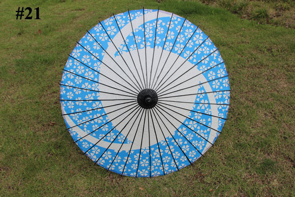 (30 pcs/lot) 2015 New High Quality Bamboo and Paper Different Color Long Straight Bridal Wedding Umbrellas(China (Mainland))