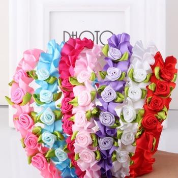 1 пк Hello Kitty 8 цветов угловой цветок ленты для волос дети аксессуары младенцы ...