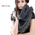 Ode To Joy Brand striped Scarf Women Winter Scarf Elegant Warm Bufandas Cape Poncho Fashion